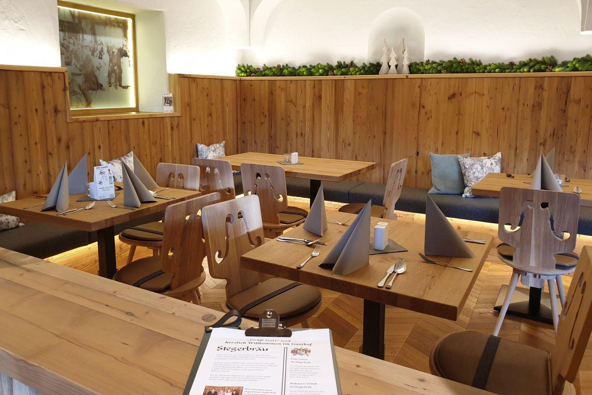 Zusätzlich zur Frühstücks-Plus-Pension, können Sie im Stegerbräu im Sommer sich mit der Halbpension Mein Menü in den à la carte Restaurants verpflegen lassen