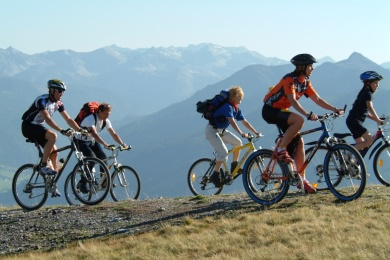 Gefuehrte MTB-Tour-Radstadt, in der Radpauschale für Stegerbräu Gäste kostenlos