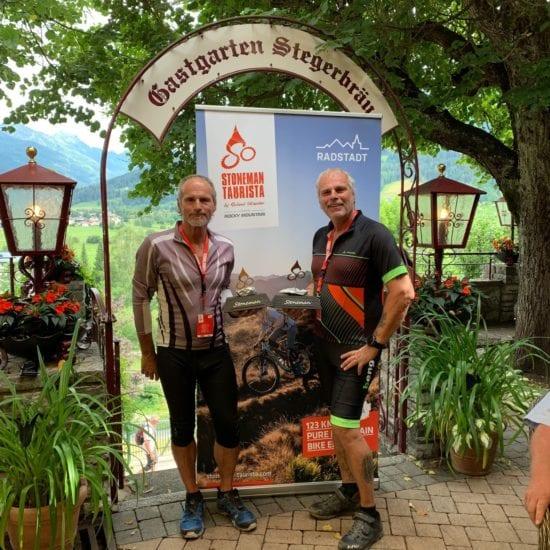 Stoneman-Taurista-Teilnehmer im Hotel Stegerbräu in Radstadt