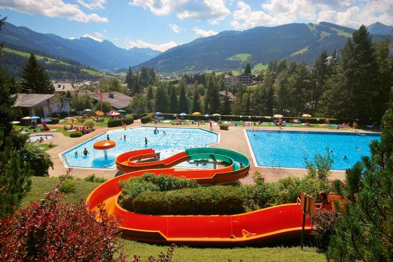 Schwimmen, Baden im Alpenfreibad Radstadt