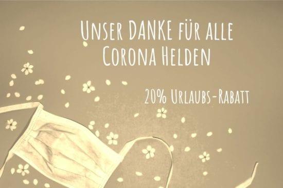 Im Stegerbräu in Radstadt sagen wir mit dem Corona Helden Rabatt -20% auf Urlaubstage- Danke an alle Helden der Krise