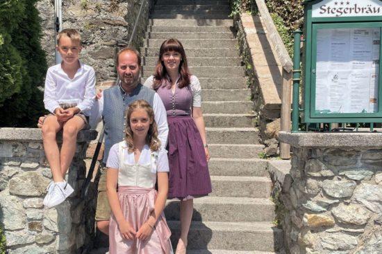 Ihre Gastgeber im Hotel - und Restaurant Stegerbräu, Familie Stiegler