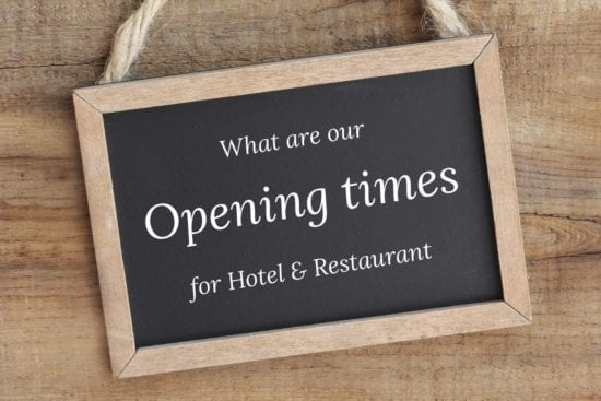 Information about opening times for Hotel - and Restaurant Stegerbräu