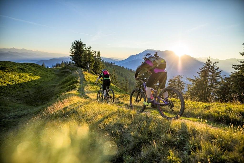 Stoneman Mountainbiker auf dem Etappenabschnitt Hochgründeck auf 1800 m