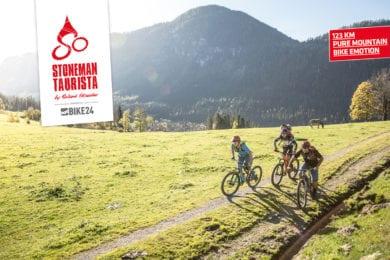 Mountainbiker auf dem Stoneman Taurista Trail