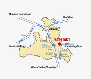 Radstadt im Salzburgerland, Verkehrsspinne