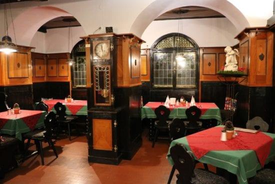 Die alte Weinstube gehörte zum Hausgastbereich im Hotel Stegerbräu