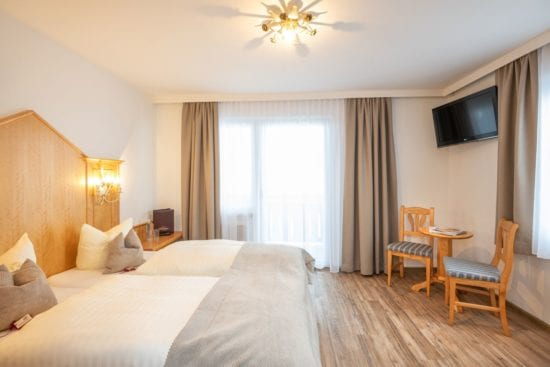 Die Zimmer mit Venylboden sind auch geeignet für Gäste, die gerne den Hund mitbringen möchten.